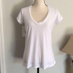 James Peres white Egyptian Cotton Womans t shirt